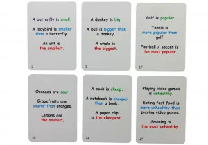 Adjectives, Comparative and Superlatives Fun Cards