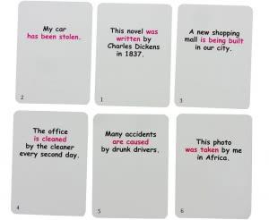 Passive Voice Fun Cards