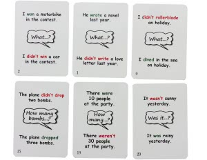 Past Simple Fun Cards