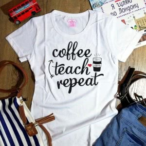 Футболка Coffee Teach Repeat