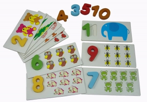Arithmetic digital cards (numbers)