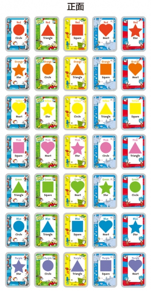 Flash Cards Dr Seuss Colors + Shapes